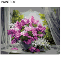 Flower DIY FrameD Pictures Painting By Numbers DIY Digital Canvas Oil Painting Home Decor For Living