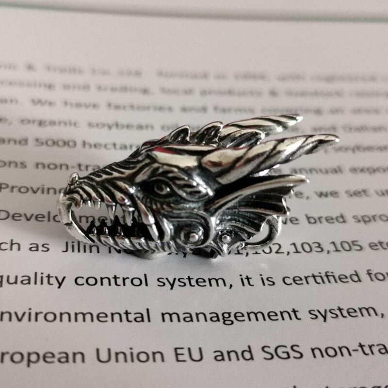Bijoux à bricoler soi-même 925 argent Sterling dragon lock charmes Fit européen troll Bracelet bijoux à bricoler soi-même faisant la livraison gratuite
