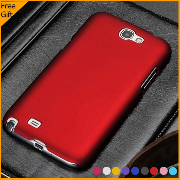 Luxury Original Colorful Matte Hard Plastic Shell Case Back Cover Case For Samsung Galaxy Note 2 N7100 Cell Phone Case With Gift ...