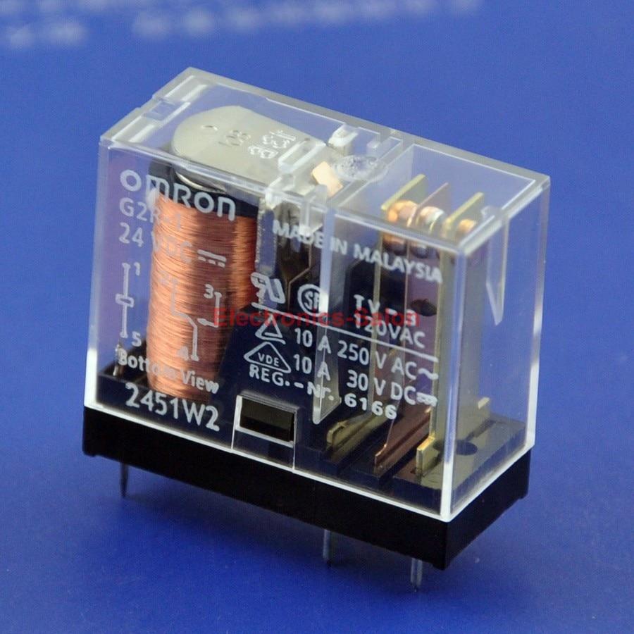 (50 Pcs/lot ) 10 Amp SPDT Power Relay, G2R-1, 24VDC.