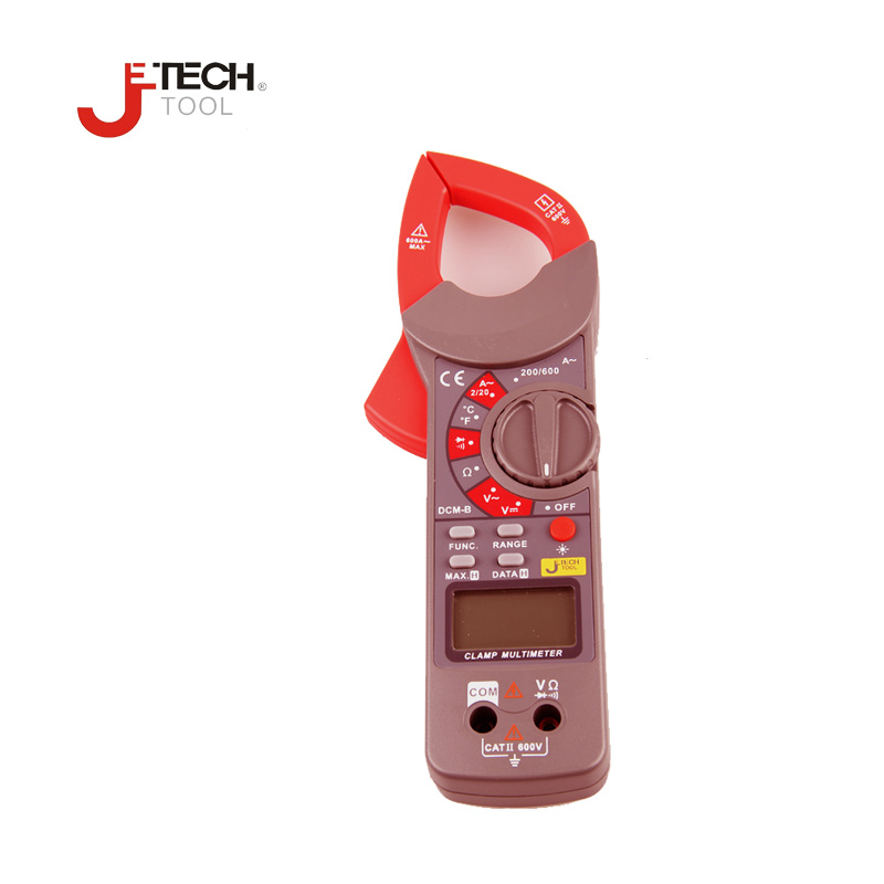 Jetech Auto-Ranging AC/DC Voltmeter  Auto Range Digital Handheld Clamp Meter Multimeter AC DC Test Tool Meter DCM-B auto 3876132aa