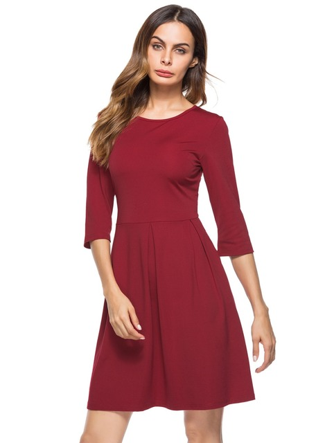 5dcf4afea2e Hot sale cotton summer dresses women 2018 working clothes girls office  ladies a- dresses formal solid knee-length dress