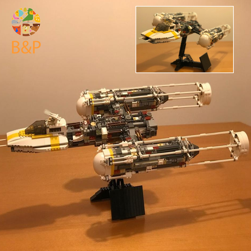 10134 1550Pcs Star Series Wars The Y Set Wing Attack Star Model Set Building Blocks Bricks Gifts Toys compatible Legoing 05040 lepin 05040 y attack starfighter wing building block assembled brick star series war toys compatible with 10134 educational gift