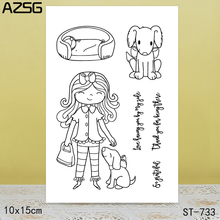 AZSG My good partner Clear Stamps Cutting Dies Set for DIY Scrapbooking/photo Album Decorative Craft10x15cm