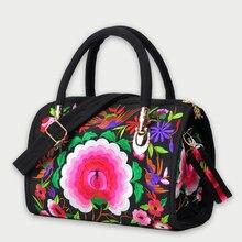 Vintage Embroidery Womens Handbag Retro Canvas Flower Embroidered Boho Women Totes Bags Designer Large Shoulder