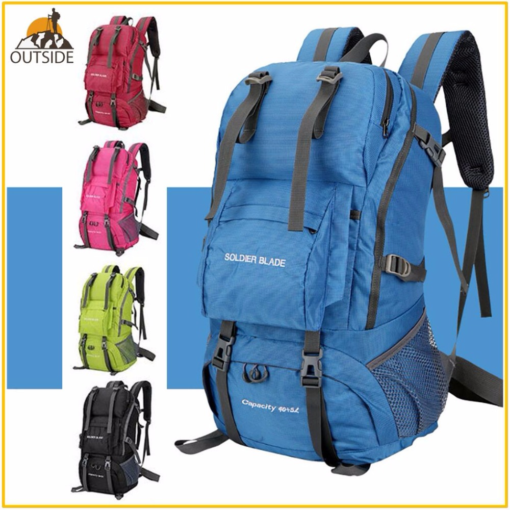 High Quality Professional Waterproof Rucksack External Frame Outdoor Climbing Camping Hiking Backpack Mountaineering Bag waterproof travel hiking backpack 50l sports bag for women men outdoor camping climbing bag mountaineering rucksack