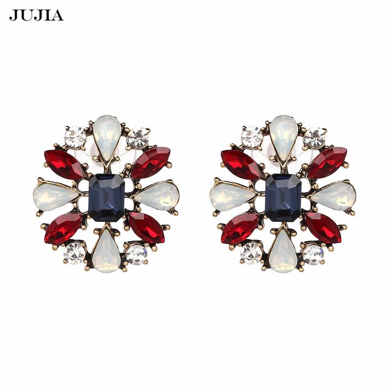 2018 Fashion Brincos New Girls Earing Bijoux Blue Zircon Stud Earrings For Women Wedding Jewelry Earings