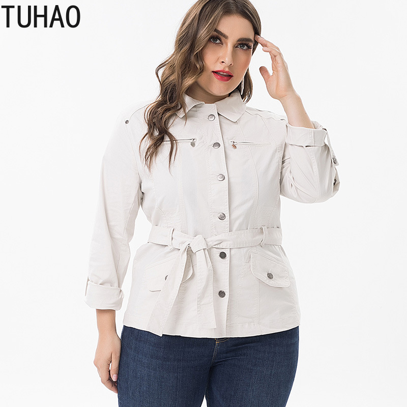TUHAO 2019 Trench Coat Spring Women elegant Office Fashion Female Trench Clothes Classic Femme Ladies Windbreaker