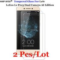 2 unids/lote para LeEco Le Pro3 AI de vidrio templado 9H 2.5D Protector de pantalla Premium película para Letv LeEco Le Pro 3 Dual AI X650 X651
