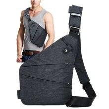 Marca masculina viagem negócios fino saco de ombro à prova de burglarproof coldre anti roubo segurança cinta de armazenamento digital sacos peito X2-15