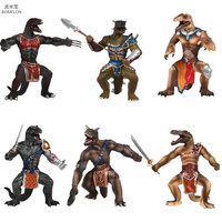 19cm Solid Dinosaur Gladiator Action Figure Movable Mouth Solid Dragon Soldiers Tyrannosaurus Rex Anime Figures Kids Toys