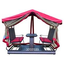 A245 Четырехместный уличное кресло-качалка для двора балкон Железный художественный стул гамак изготовленный из Ротанговой Пальмы подвесной стул открытый качели