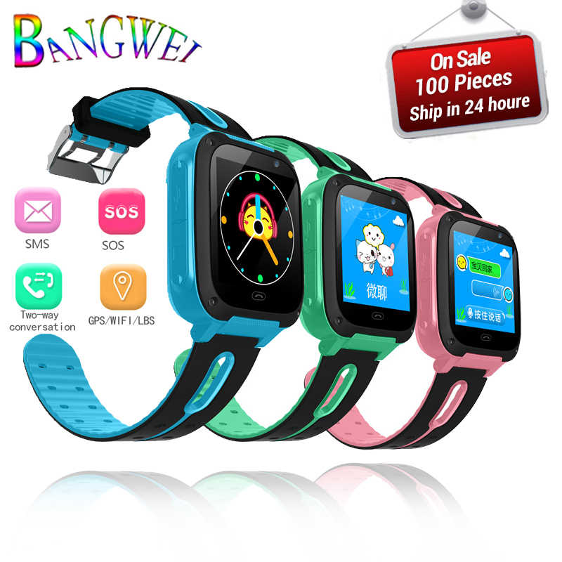 2019 BANGWEI Children Smart Watch Baby Watch LBS Position Tracker SOS Emergency Phone Call Girl Boy Watch For 2g/3g/4g SIM Card