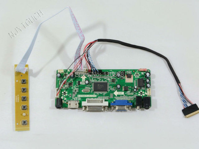 Frete Grátis M. NT68676.2A HDMI VGA DVI Placa Controladora LCD DIY Kit para B156XW02 15.6 polegada 1366x768 LCD placa de circuito HDMI
