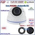 H.265 Ambarella IMX290 camaras IP 2MP 1080 P P2P Câmera de segurança IP Câmera hd com 24LED, 2.8-12mm Lens, HDR, ONVIF, PoE Opcional
