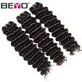 Beyo Deep Wave Peruvian Hair Bundles 1/3/4pc/Lot 100% Human Hair Weave Bundles 10-28 Inch Non-Remy Hair Extension Natural Color