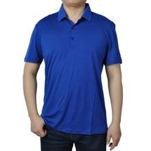 2019 Summer Mens  New Merino Wool Short Sleeve blak POLO Shirt  Out Door Lightweight Tee Lapel Turn down V Collar Button