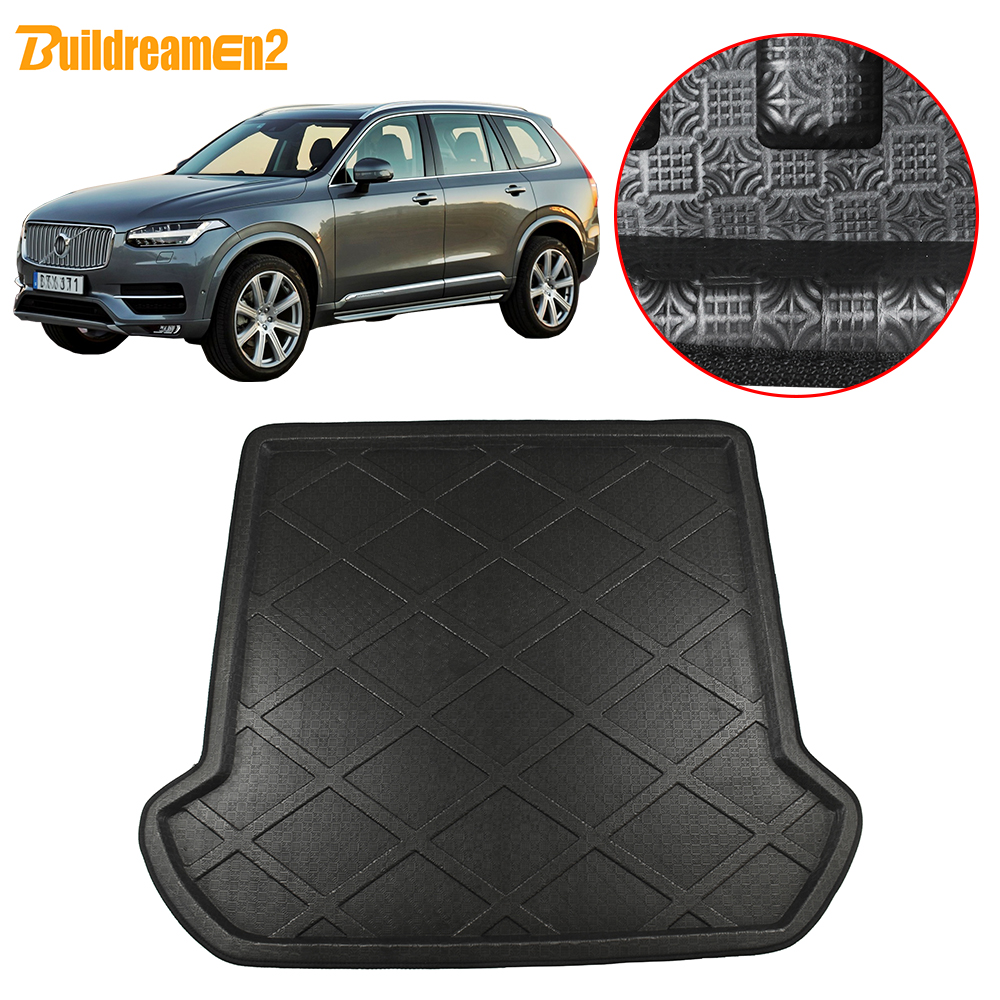 Buildreamen2 For Volvo XC90 2003-2013 Car Boot Pad Rear Trunk Mat Tray Liner Cargo Floor Luggage Carpet Protection Pad