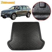 Buildreamen2 dla Volvo XC90 2003 2013 rozruchu samochodu poduszka tylnego mata do bagażnika tacy Liner podłoga ładunkowa bagażu dywan Pad ochrony