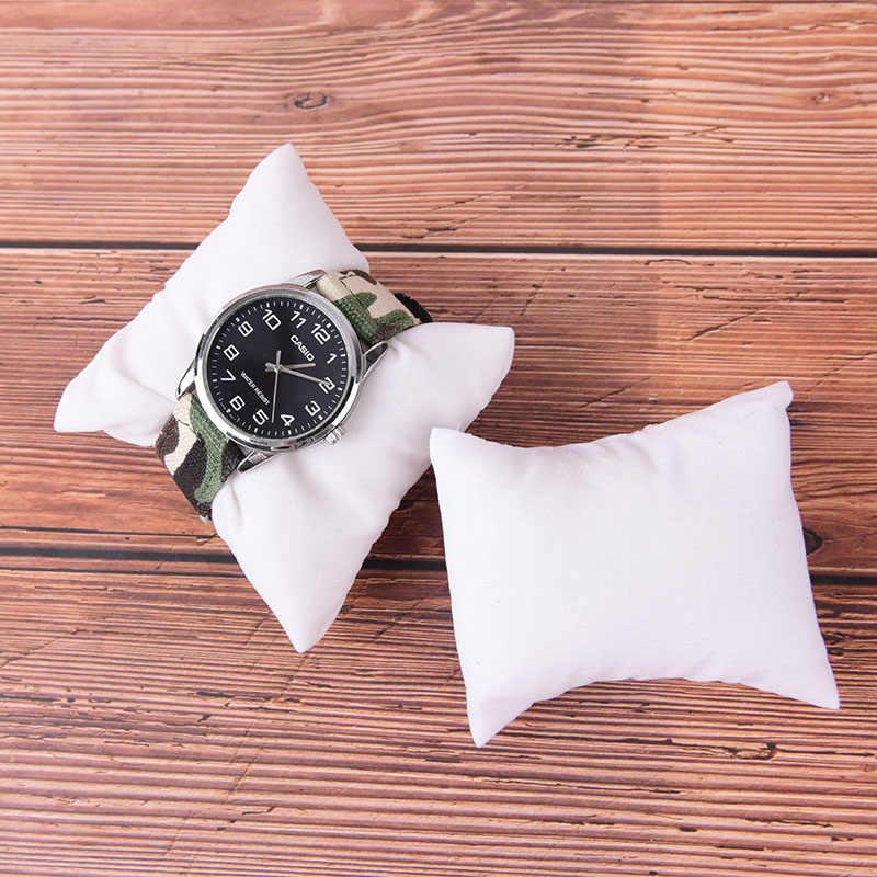 1 шт. полезные PU или бархат кожаный браслет часы ювелирных изделий Подушка Дисплей Коробки держатель организаторы много Цвета