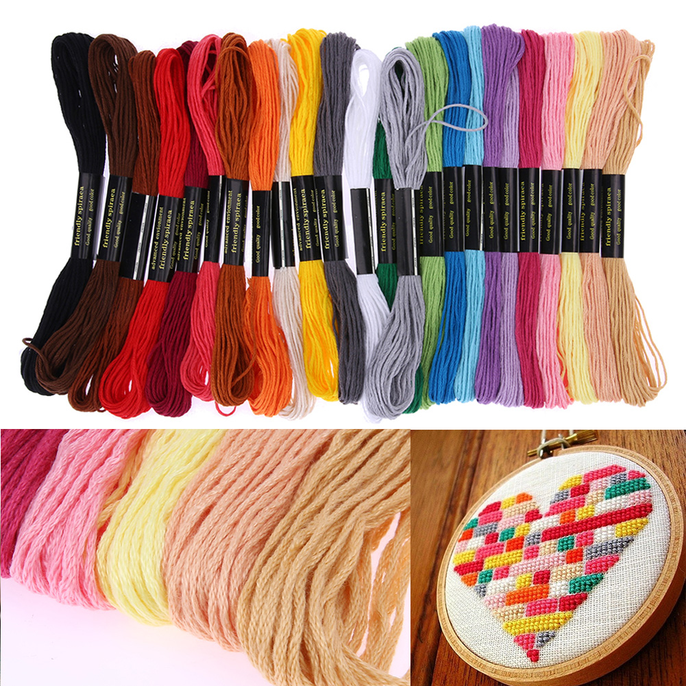 Aliexpress buy mix colors embroidery thread hand