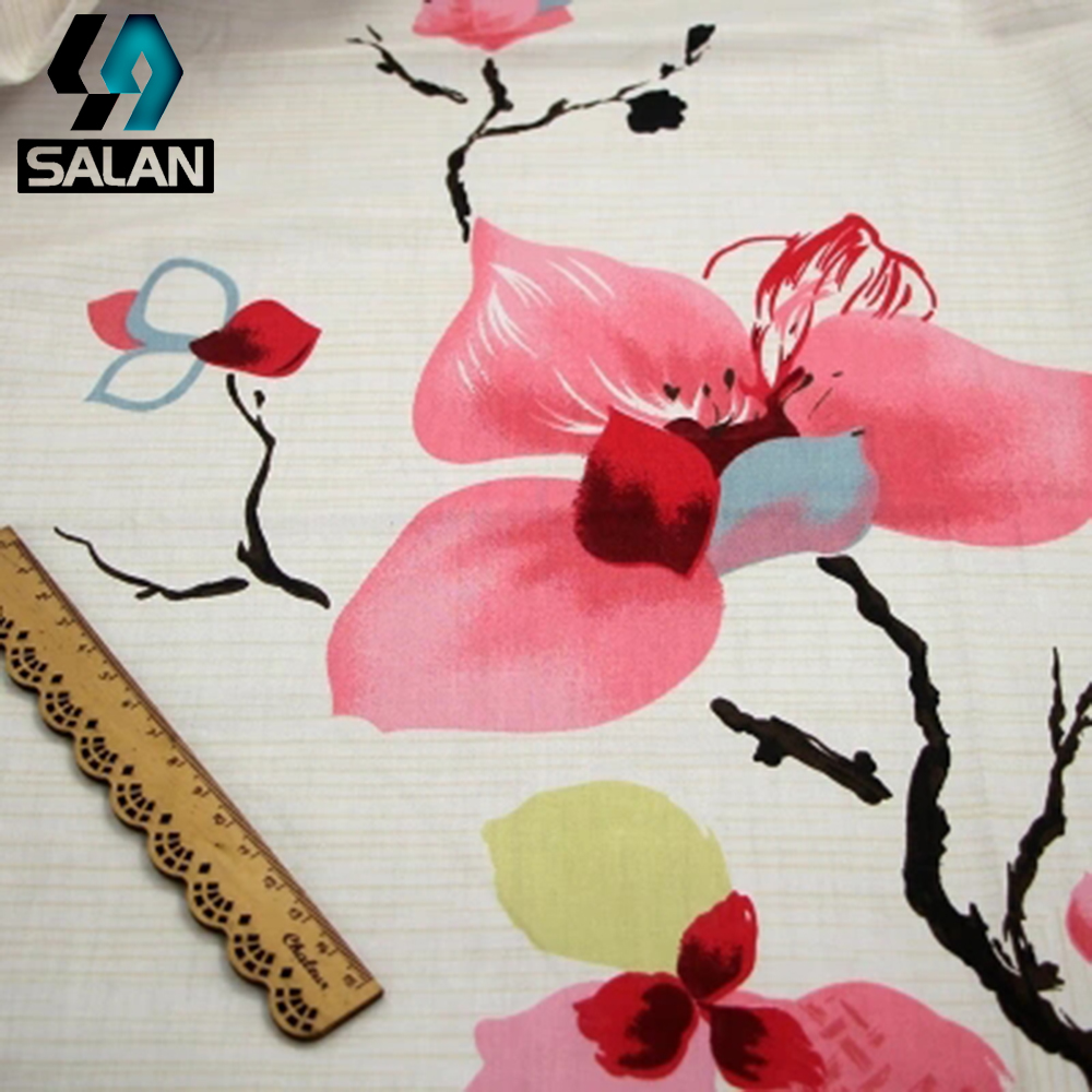 Spot wholesale cotton fabric printing children 's home textiles bed curtains clothing clothing cotton twill