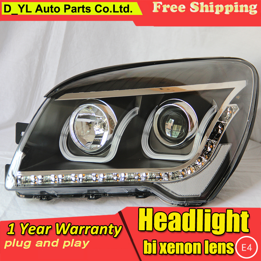 DY L car Styling Head lamp for Kia Sportage 2008 2013 LED Headlight DRL H7 D2H