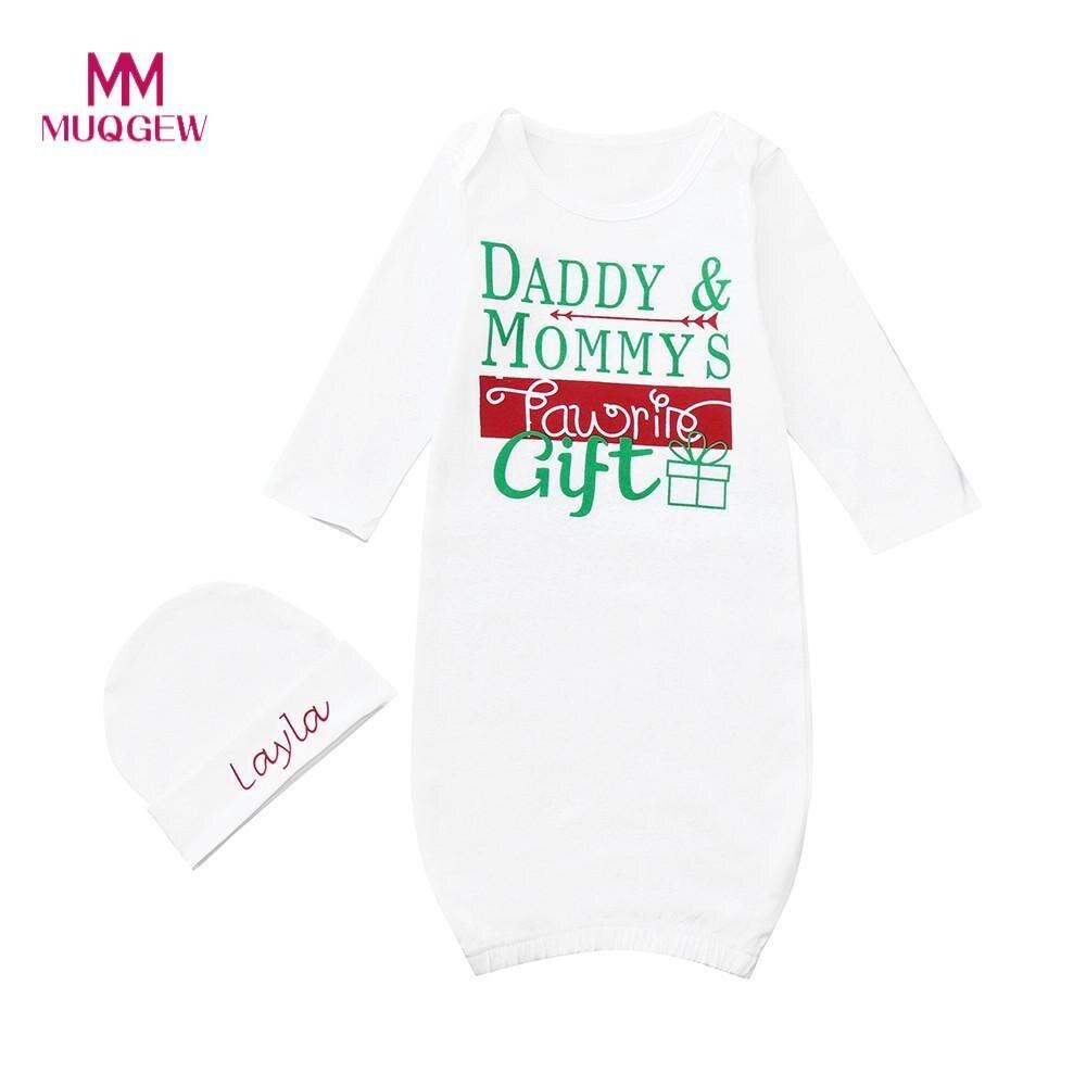 2018 Neue Ankunft Kinder Kleidung Set Langarm Oansatz Baumwolle Kleinkind Baby Brief Drucken Wrap Schlafsack + Hut Kleidung Set