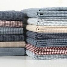 50*140 см Толстая мягкая Базовая Лоскутная японская пряжа окрашенная хлопковая ткань для шитья сумка в стиле квилтинг кошелек ткани для рукоделия