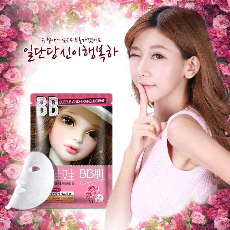 Hot Sale Korean Cosmetic Face Care Facial mask Rose Plant Essence Moisturizing hydrating Face Mask Beauty Makeup