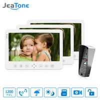 JeaTone 7 Built In Memory 1 Outdoor Camera 3 Monitor Video Door Phone Doorbell Intercom With
