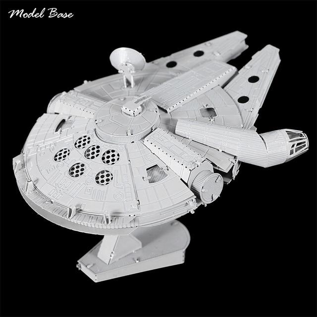 Взрослый Собраны 3D Металлические Головоломки Обучающие Дети Модели Металла DIY Мерного Головоломки Puzzle 3D Звездные войны Тысячелетний Сокол