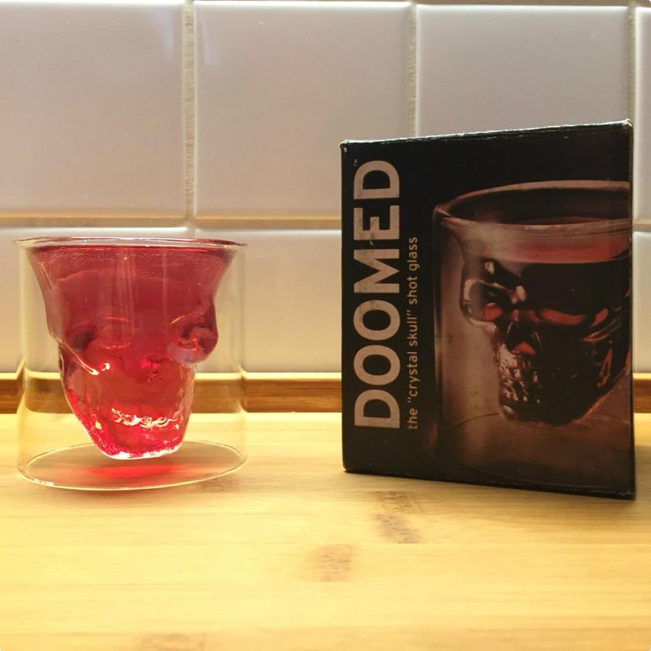 1 stk. 2,75 tommer 7 cm lille krystal kraniet hoved skud glas kop - Køkken, spisestue og bar - Foto 2