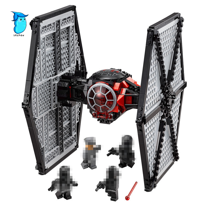StZhou Lepin Stars Series War Force Awakens Tie Fighter Model Set Building Blocks Bricks DIY Educational Children Toy Gift building blocks stick diy lepin toy plastic intelligence magic sticks toy creativity educational learningtoys for children gift