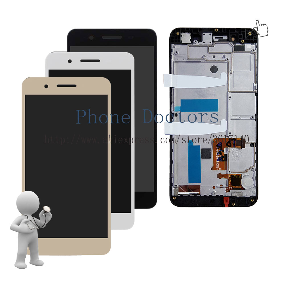 5.0'' New Full LCD DIsplay + Touch Screen Digitizer Assembly With Frame For Huawei Enjoy 5S GR3 TAG-L01 / L03 / L13 / L22 / L23