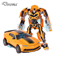 O Robô fresco Carro Brinquedos Infantis Brinquedo Anime Figura de Ação Robô de Transformação Bumblebee Transformação Mobel Presente de Natal Para Crianças