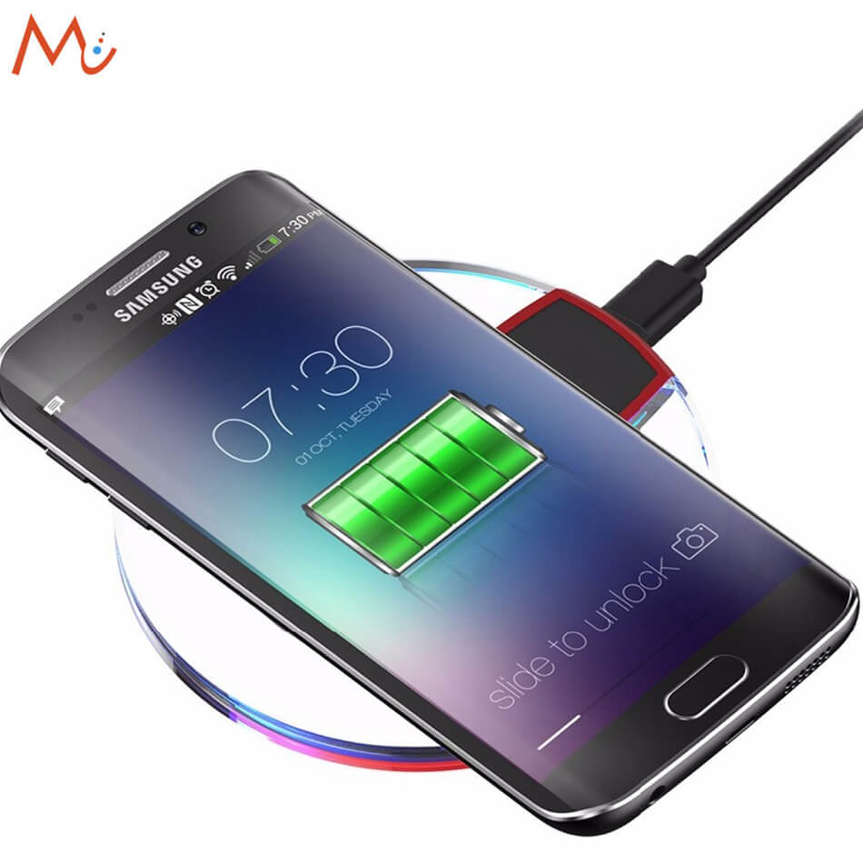 qi original wireless charger for samsung galaxy s8 s7 s7. Black Bedroom Furniture Sets. Home Design Ideas
