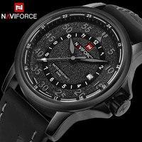 Men Sport Watches NAVIFORCE Luxury Top Brand Quartz Watches For Men Waterproof Auto Date Leather Wristwatches