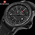 men sport watches NAVIFORCE luxury top brand quartz watches for men waterproof auto date leather wristwatches relogio masculino