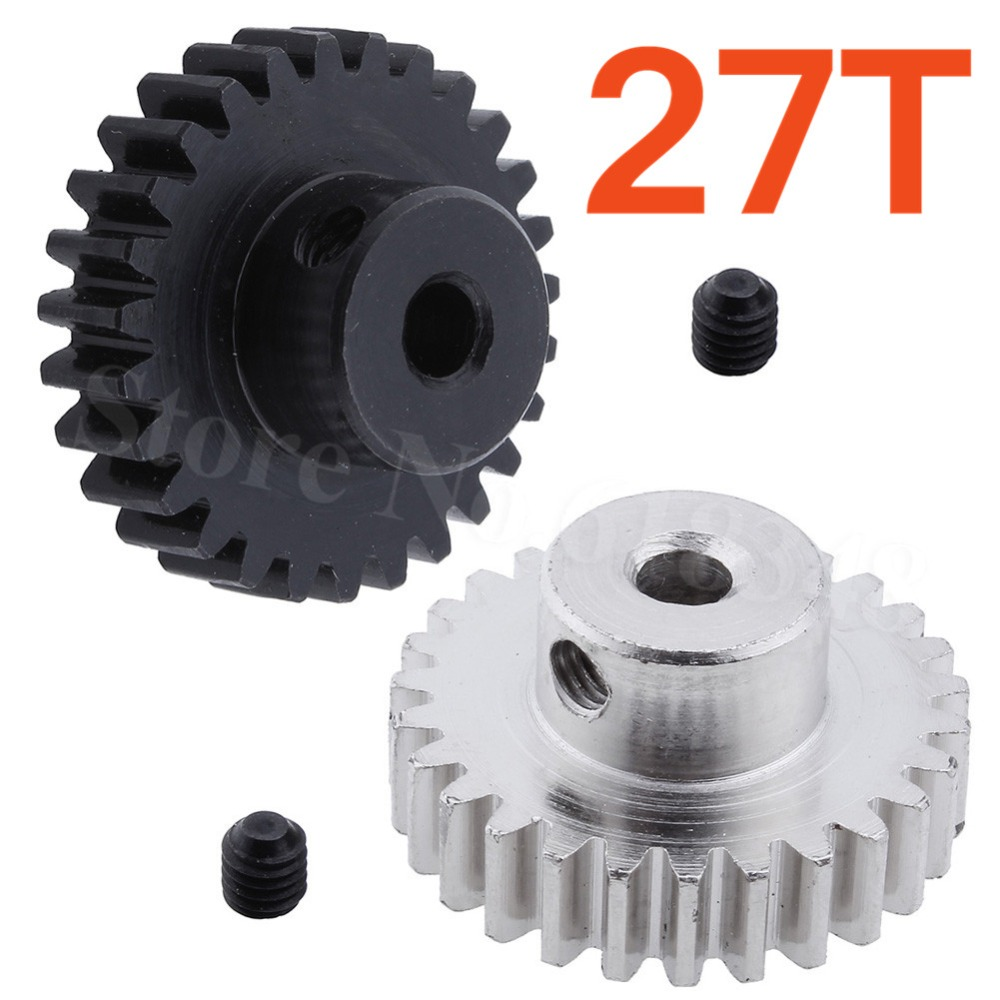 Metal 27 Teeth Motor Pinion Gear Diameter hole: 3.175mm Fit 540 Engine Motors For RC WLtoys 1:18 A959 A969 A979 k929 Model Car
