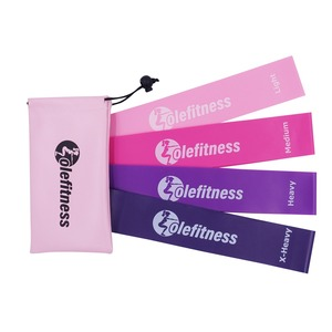 Olefitness Resistance Loop Bands Pink Set of 3 with Carrying Bag Elastic Bands Women Exercise Equipment for Home and Gym Workout(China)