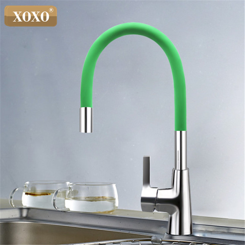 Image 3 - XOXO 360 New Arrival 7 color Silica Gel Nose Any Direction Rotation Kitchen Faucet Cold and Hot Water Mixer 1301R-in Kitchen Faucets from Home Improvement