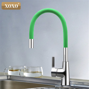 Image 3 - XOXO 360 New Arrival 7 color Silica Gel Nose Any Direction Rotation Kitchen Faucet Cold and Hot Water Mixer 1301R