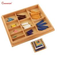 Деревянный Разноцветные Бусы Soroban счеты математические игрушки расчет образования детей Номера Training материалы montessori MA035 3