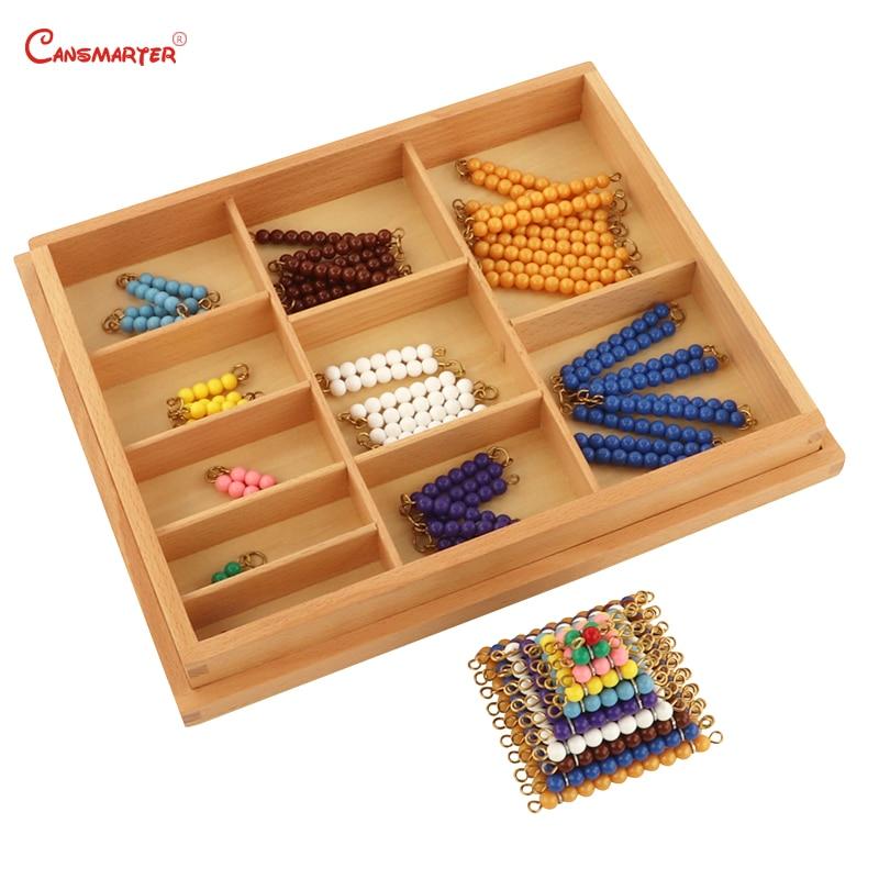 Houten Kleurrijke Kralen Soroban Abacus Math Speelgoed Berekening Kinderen Educatief Nummers Training Montessori Materialen MA035 3