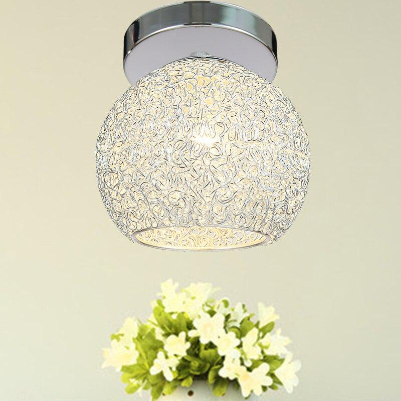 Tout aluminium LED plafonnier simple tête Venture Creative Hall couloir allée lumières lampe de Table Cap lampes CL