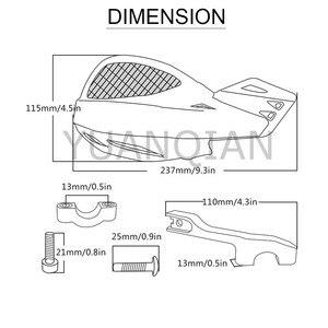 "Image 5 - Universal de 7/8 ""22mm moto manillar de motocross protección para manija para YAMAHA MT07 MT 07 FZ 07 Tracer 700 2014 2018 Kawasaki"