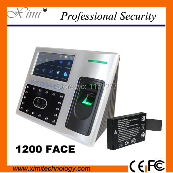 Linux system access control system TCP/IP communication infrared camera built in battery face fingerprint attendance recorder