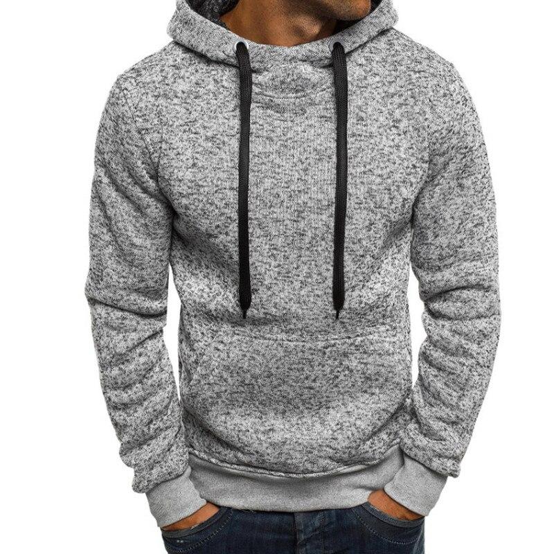 Moda Mens Hoodies sudaderas camisetas de manga larga Fitness Joggers Hoody Hiphop Hombre 2018 hombres ropa Otoño Invierno