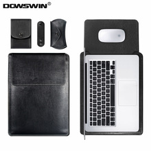 DOWSWIN Bag Case for Macbook Air 13 11 Retina 12 13 15 Inch Pro 13 15 Laptop Notebook Leather Sleeve Bag for Macbook Wateproof